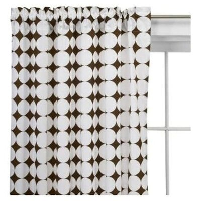 Bacati Reverse Dots Curtain Panel in White and Chocolate