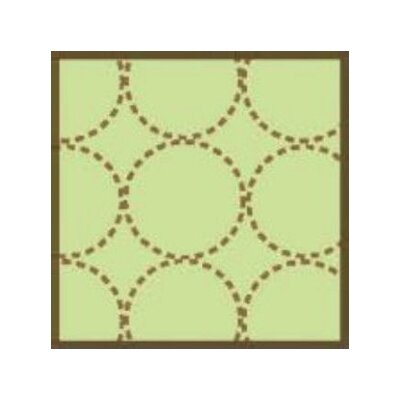 Bacati Quilted Circles Three Piece Wall Hangs in Lime and Chocolate