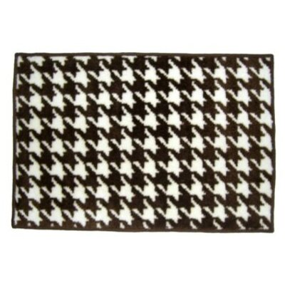 Bacati Quilted Houndstooth White/Chocolate Rug