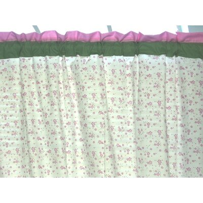 Bacati Summer Garden Cotton Rod Pocket Curtain Single Panel