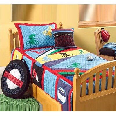 Bacati Biking Decorative Pillow