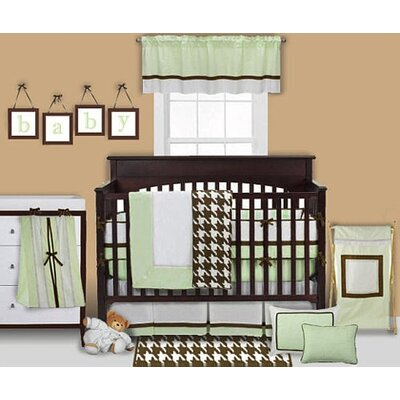 Bacati Metro Lime, White and Chocolate Crib Bedding Collection