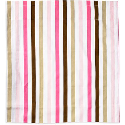 Bacati Mod Stripes Cotton Rod Pocket Curtain Single Panel