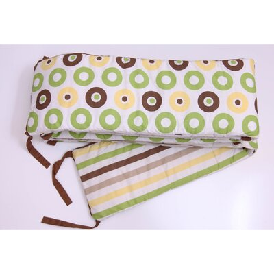Bacati Mod Dots and Stripes Bumper Pad