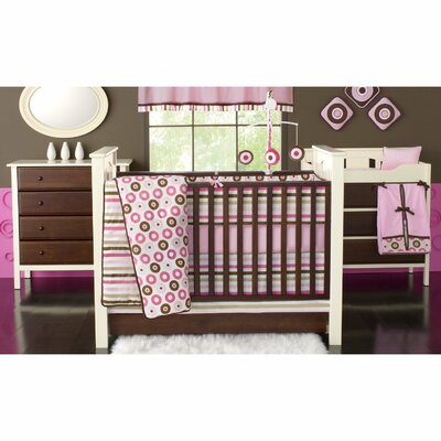 Bacati Mod Dots and Stripes Crib Bedding Collection