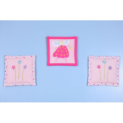 Bacati 3 Piece Fairy Land Hanging Art Set