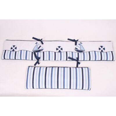 Bacati Little Sailor Bumper Pad