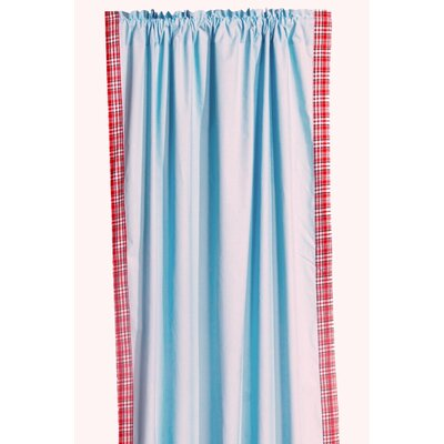 Bacati Boys Stripes Cotton Rod Pocket Curtain Single Panel