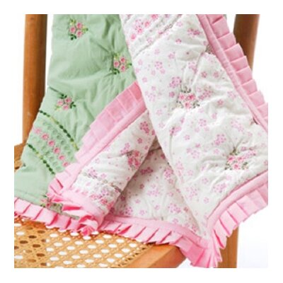 Bacati Summer Garden Cotton Toddler Throw