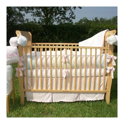 Bacati Jersey Knit Girls 4 Piece Crib Bedding Set