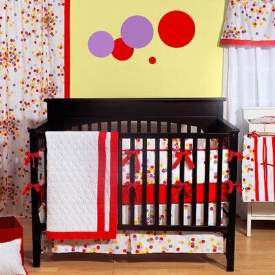 Bacati 350 Thread Count Sateen Sprinkles 4 Piece Crib Bedding Set