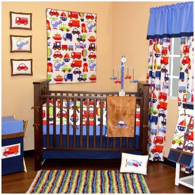 Bacati Transportation Crib Bedding Collection