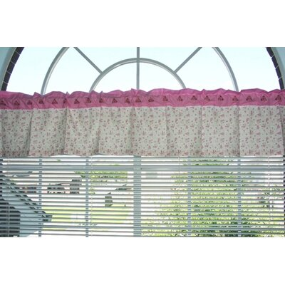 Bacati Summer Garden Cotton Rod Pocket Tailored Curtain Valance