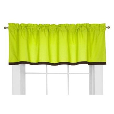Bacati Valley of Flowers Cotton Curtain Valance