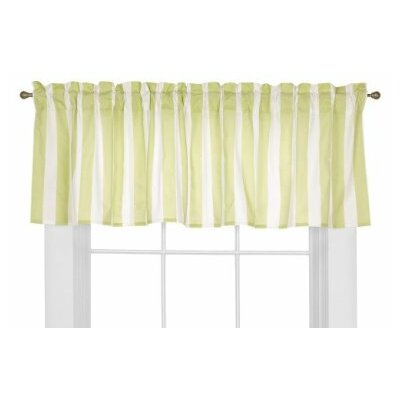 Bacati Flower Basket Cotton Rod Pocket Tailored Curtain Valance