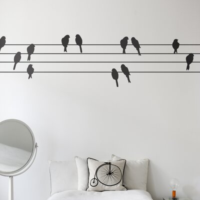 ferm LIVING Powerbirds Wall Sticker in Black