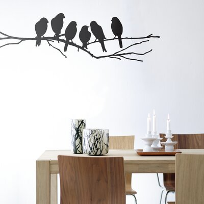 ferm LIVING Lovebirds Wall Sticker in Black