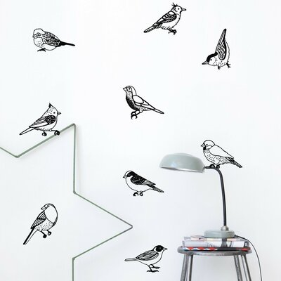 ferm LIVING Drawing Birds Wall Decal