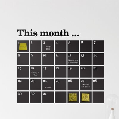 ferm LIVING Calendar Chalkboard Wall Decal