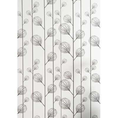 ferm LIVING Ribbed Wallsmart Wallpaper in Black / Beige