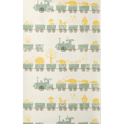 ferm LIVING Tiny Trains Wallpaper