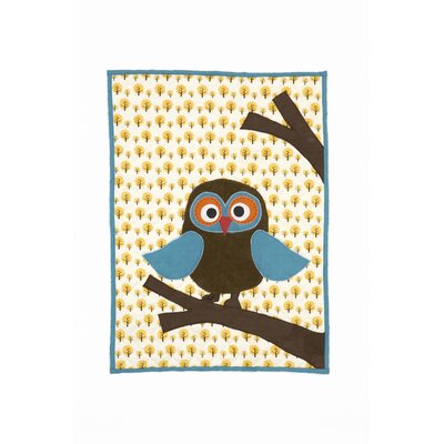 ferm LIVING Owl Quilted Cotton Blanket