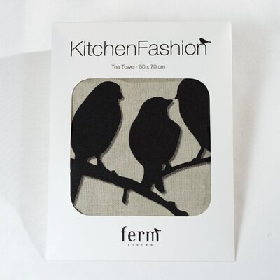 ferm LIVING Lovebirds Kitchen Tea Towel