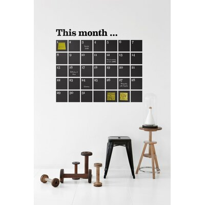 ferm LIVING Calendar Wallsticker in Black