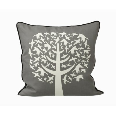 ferm LIVING Bird Leaves Silk Pillow
