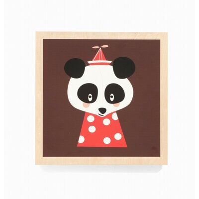 ferm LIVING Posey Panda Wooden Picture