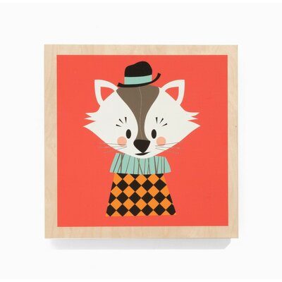 ferm LIVING Aristo Cat Wooden Picture