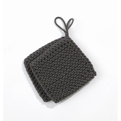 Knitted Pot Holders in Charcoal