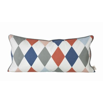 ferm LIVING Kids Happy Harlequin Organic Cotton Cushion