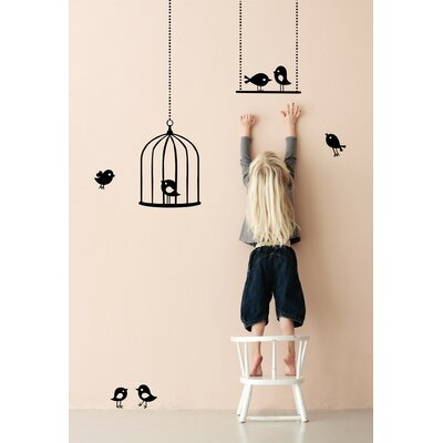 ferm LIVING Tweeting Birds Wall Decal