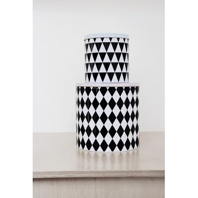 ferm LIVING Geometry Tin Boxes (Set of 2)