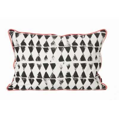 ferm LIVING Worn Triangle Print Organic Cotton Cushion