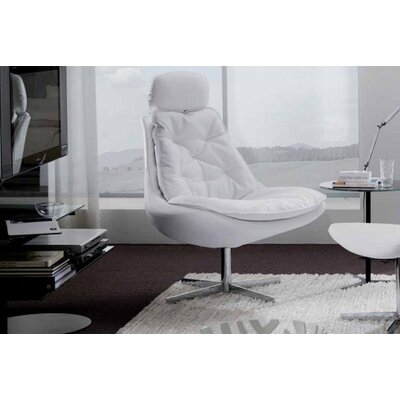 Bontempi Casa Daya Upholstered Armchair and Ottoman Set