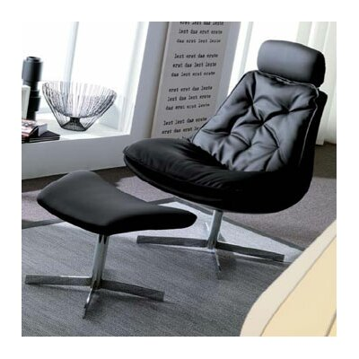Bontempi Casa Daya Leather Chair and Ottoman