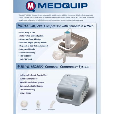 MedQuip Airial Compressor with Reuseable JetNeb