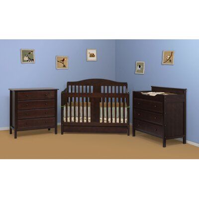 DaVinci Richmond 4-in-1 Convertible Crib Set with Toddler Rail