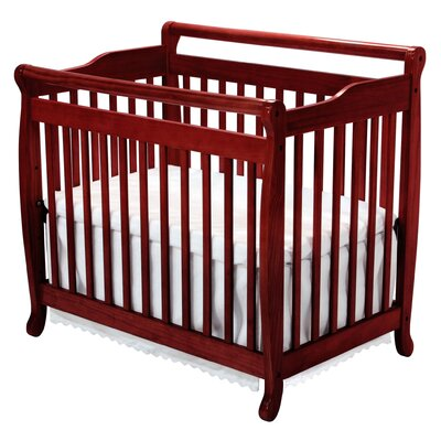 DaVinci Emily Mini 2-in-1 Convertible Crib in Honey Oak