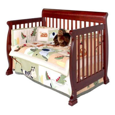 DaVinci Kalani Three Piece Convertible Crib Nursery Set with Toddler Rail in Cherry