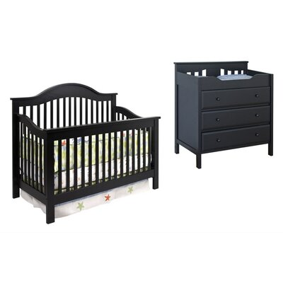 DaVinci Jayden 4-in-1 Convertible Crib Set with Toddler Rail