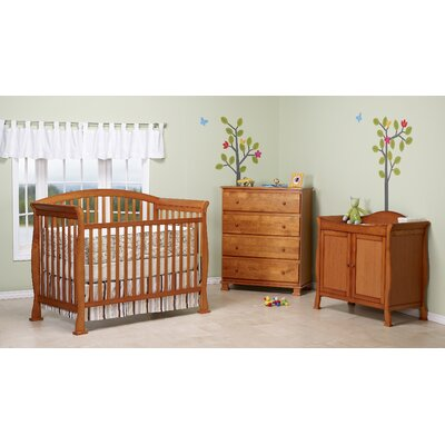 Thompson 4-in-1 Convertible Crib Set with Toddler Bed Conversion Kit