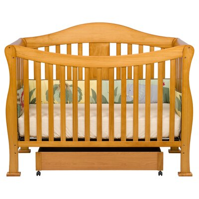 DaVinci Parker Three Piece Convertible Crib Nursery Set with Toddler Rail in Cherry Pine