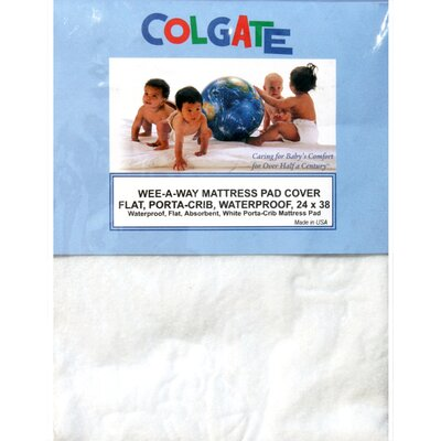 Colgate Wee-A-Way Waterproof Portable Crib / Mini Crib Mattress Cover