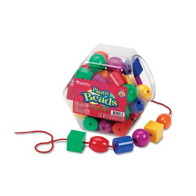 Learning Resources Plastic Lacing Beads 48 Piece Set