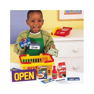 Learning Resources Pretend Play Supermarket 93 Piece Set