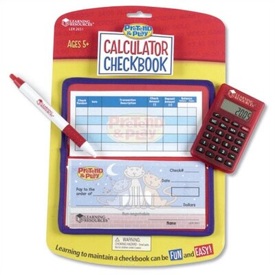 Learning Resources Pretend and Play Calculator Checkbook