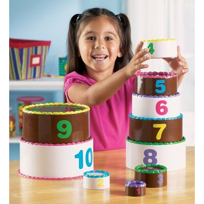 Learning Resources Smart Snacks Stack and Count Layer Cake 10 Piece Set